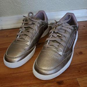 Reebok metallic sneakers